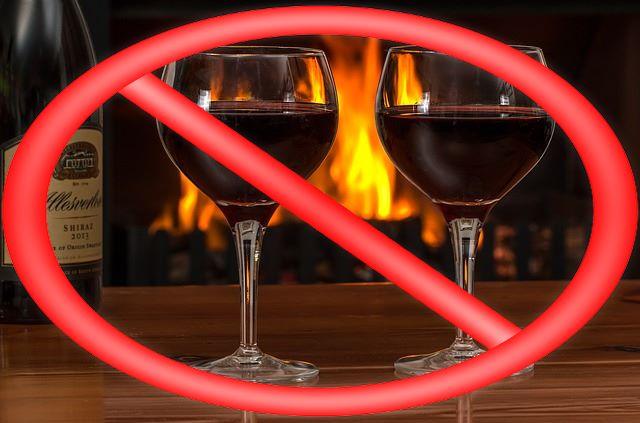 Запрет на спиртные напитки при проведении теста