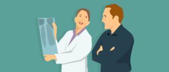Осмотр рентгеновских снимков врачом