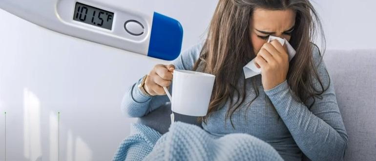 При высокой температуре и слабости необходимо обратиться к врачу