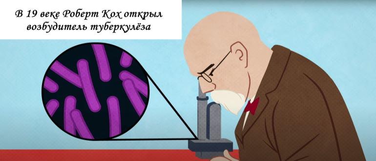 Роберт Кох открыл возбудитель туберкулёза